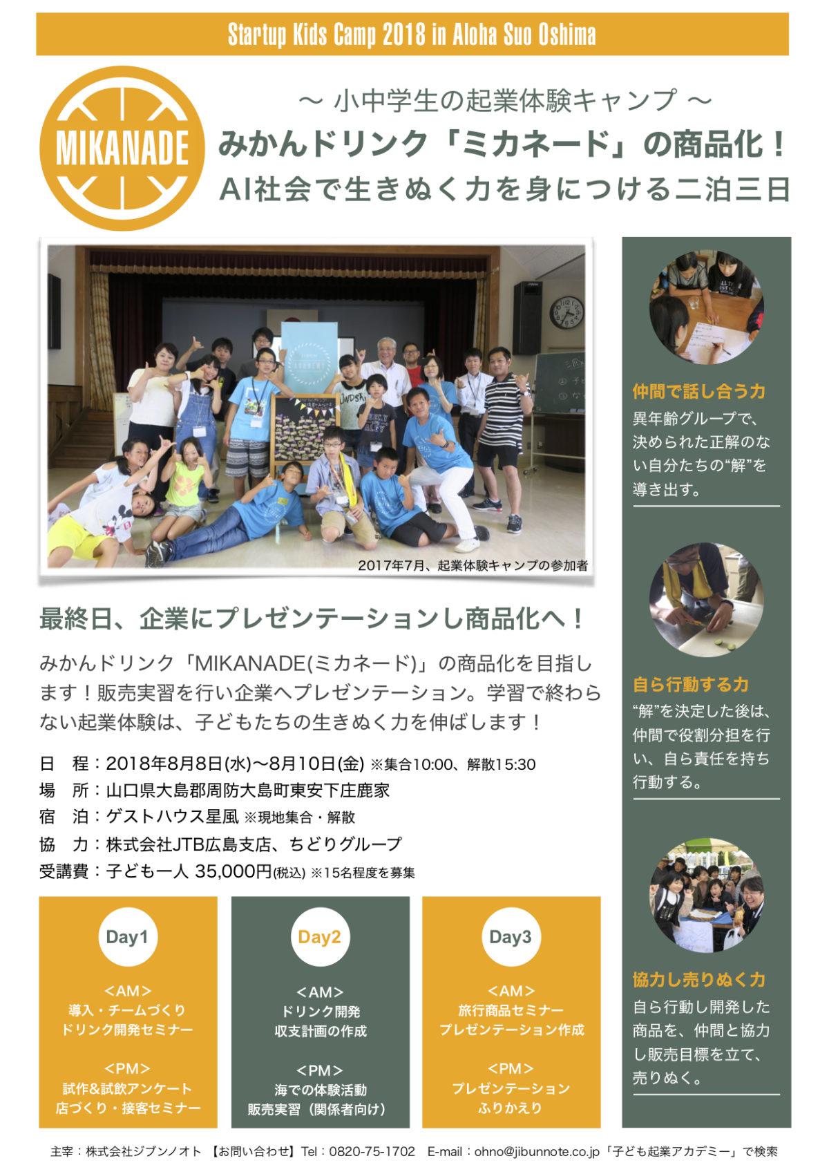起業体験キャンプ2018