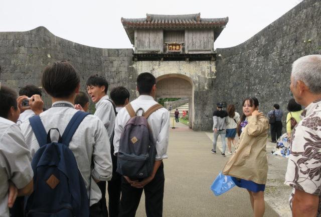 広島県立五日市高等学校の探究的な沖縄修学旅行へ同行